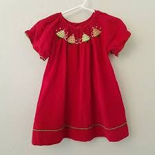 Smocked Auctions Size Chart Red Christmas Tree Smocked Longall New Jon Jon Boutique