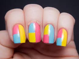 Sally Hansen Spring Color Block Tape Manicure (+ Tutorial ...