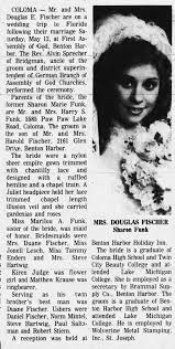 Marriage of Sharon Funk and Douglas Fischer 1979 - Newspapers.com
