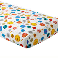 organic deep space crib fitted sheet  the land of nod