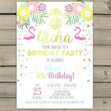 Luau Invitations Online Luau Birthday Invitations Party Flamingo