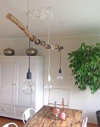Deko Mit ästen Diy Esstisch Beleuchtung Lampen Wohnzimmer Und