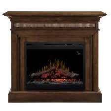 electric fireplace in walnut