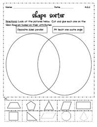 Sorting 2d Shapes Venn Diagram Ks1 Venn Diagram Shape Sort Teaching Resources Teachers Pay Teachers