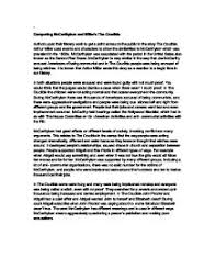 comparing mccarthyism and miller s the crucible gcse english  page 1 zoom in
