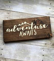 Wooden Signs With Quotes Gorgeous Adventure Awaits' Wooden Sign Gifts For The World Traveler