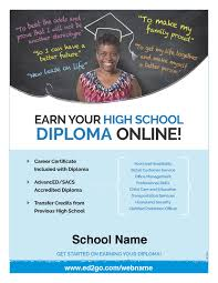 flyer earn your high school diploma online