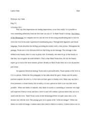 "an analysis of ""two ways of viewing a river"" essay jade fox an  7 pages twain essay eng111"