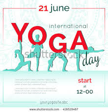 Flyer For Vector Yoga Illustration Template Of Poster For International Yoga
