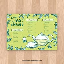 Tea Menu Template With Different Flavors Nohat