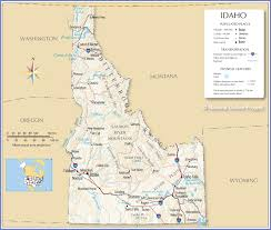 reference map of idaho usa  nations online project