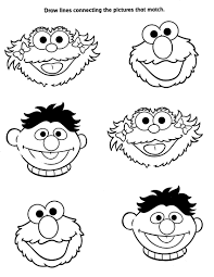 Sesame Street Characters Coloring Page Freetable Pages Printables