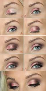 for blue grey eyes this smoky pink eye shadow would be a great choice