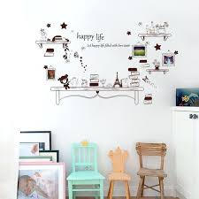 star bear tower erfly photo frame wall stickers living room bedroom vintage wall decor decal home decoration art large wall photo frame family tree
