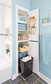 Storage Packed Small Bathroom Makeover Modern Bathroom Other Metros Lowe S Home Imp Small Bathroom Makeover Small Bathroom Storage Traditional Bathroom