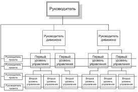 Курсовая работа Сущность организационных структур управления и  Матричная программно целевая форма управления Сплошные горизонтальные линии показывают горизонтальные управляющие обязательные связи