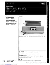 frymaster heated landing zone hlz 22 manuals frymaster heated landing zone hlz 22 user manual