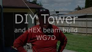 diy tilt tower and k4kio hex beam install