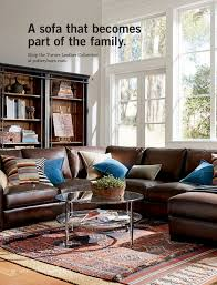 a sofa that becomes part of the family the turner leather collection at potterybarn