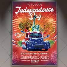 4th Of July Independence Day Premium Flyer Psd Template