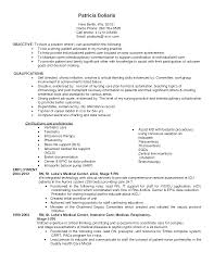 resume objective examples call center - Job Description Of An Icu Nurse