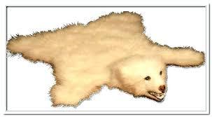 polar bear rug faux fake with head for kijiji polar bear rug