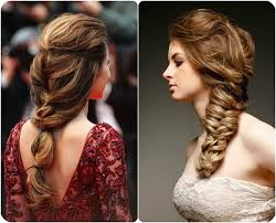 brown to blonde braided ponytail and fishtail ombre color hairstyles with hair extensions