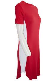 Panel Shirt Design Ladies Details About Womens Ladies Casual Curved Hem Short Sleeve Side Panel Long T Shirt Mini Dress