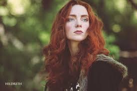 Natural redhead fair skin