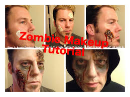 last minute idea 4 step zombie makeup using oatmeal glue
