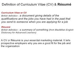 What Is Cv Resume Mean Umfosoft