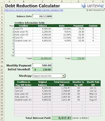 Debt Reduction Calculator Apache Openoffice Extensions