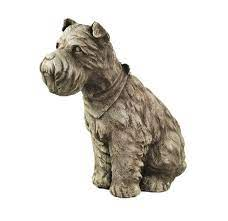 dog statue schnauzer dogs home and