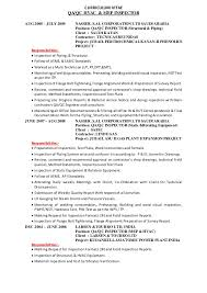 Qc Inspector Resume Meloyogawithjoco Inspiration Mechanical Inspector Resume