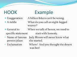 how to write a persuasive essay ppt video online  6 hook example exaggeration