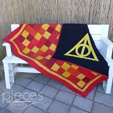 Pieces by Polly: Deathly Hallows Gryffindor Quilt - Harry Potter ... & Pieces by Polly: Deathly Hallows Gryffindor Quilt - Harry Potter Inspired Adamdwight.com
