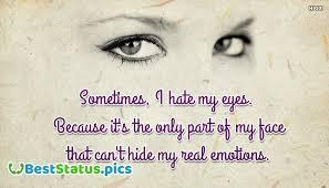 status on my eyes