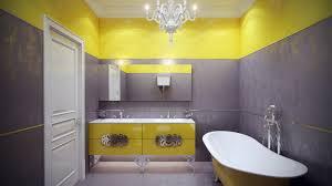 Ideen Für Die Badezimmer Wand Dekor Weiß Und Gelb Farben Badewanne