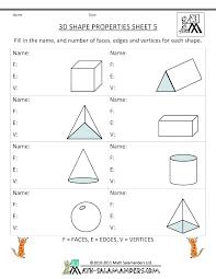 Shapes Worksheets Grade 3 Kindergarten And For 1 Shape The Best ...