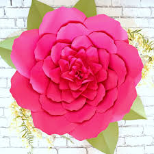 Peony Paper Flower Giant Paper Flower Peony Templates Lacey Style Flower