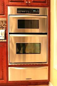 kitchenaid single wall oven reviews built in electric convection black double 30