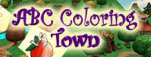 Educational interactive coloring book featuring wonderfully designed fantasy village. Abc Coloring Town Lutris