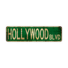 Item will be printed on lustre paper unless buyer specifies otherwise. Hollywood Blvd Decor Wall Man Cave Bar Street Rustic Vintage Retro Metal Sign Ebay