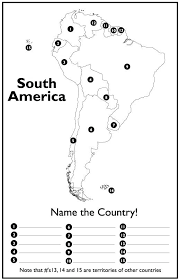 North And South Blank Map Quiz Maps Of Printable Latin America