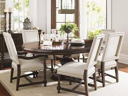 kilimanjaro maracaibo round dining table lexington home brands rustic with upholstered chairs 4b2dc5f25bbe8ef11e4a9bb2677 dining table upholstered