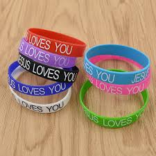 Jesus Is The Light Wristbands Details About 50pieces Silicone Jesus Loves You Bracelet Wristbanb Random Color Usa Stock