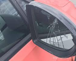 broken side mirror glass