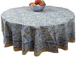 full size of tablecloth 72 x 144 round navy handmade sunflower print cotton blue kitchen fascinating
