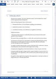 policy templates policy manual template under fontanacountryinn com