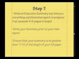 learn how to write an executive summary tutorial